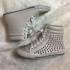 N.Y.L.A. Shoes - NYLA Studded High Tops