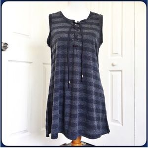Cable & Gauge Tops - Cable & Gauge Striped Tunic