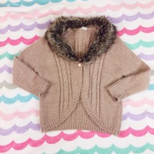 axes femme Sweaters - Axes Femme cardigan with faux fur collar