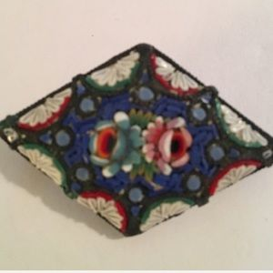 💕 Antique Italian Mosaic Brooch