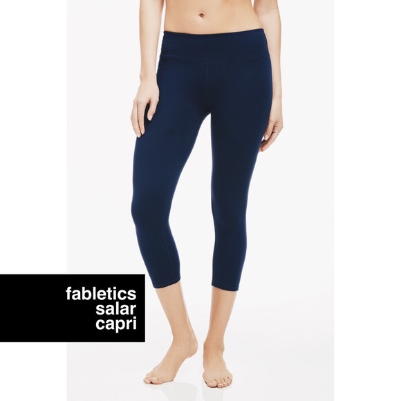 Capri leggings navy