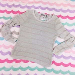 LC Lauren Conrad Sweaters - Mint striped sweater