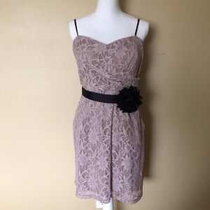 City Triangles Dresses & Skirts - City Triangle Lace Belted Dress with pockets