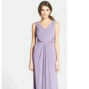 Monique Lhuillier Dresses & Skirts - LILAC Monique Lhullier Lace Chiffon Dress