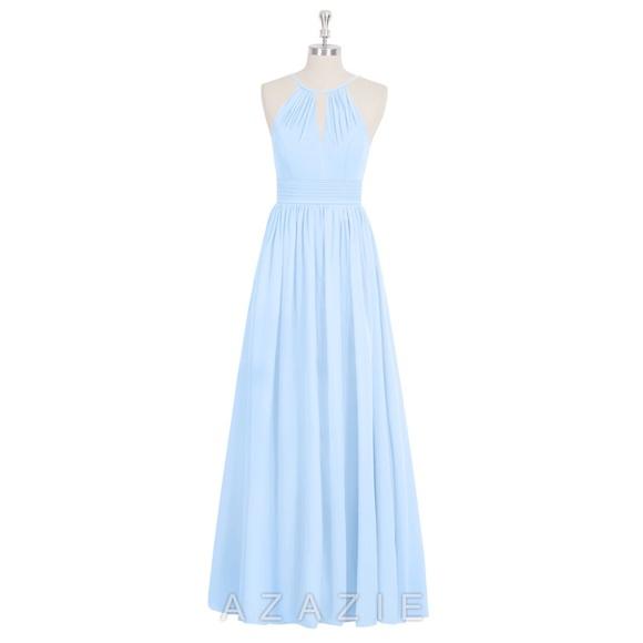 f49f8b29e9 Azazie Dresses   Skirts - Sky Blue Floor Length Bridesmaid