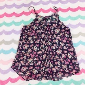 Forever 21 Tops - Sheer floral tank top