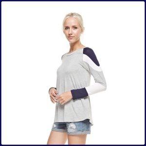 Color block Long Sleeve Top