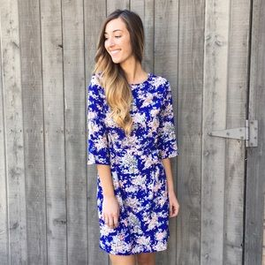 | new | royal blue floral dress