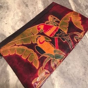Handbags - Parrot Leather Clutch Bag