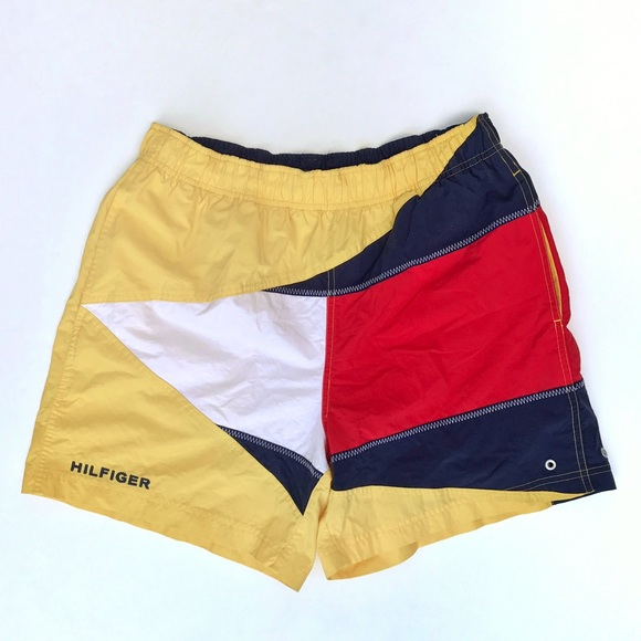 Vintage Tommy Hilfiger swim shorts. M 583b92fc713fdeab990e8a0d ffc1a1445