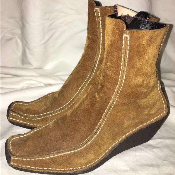 c213810a3c3 Pons Quintana Woman s Wedge Boots 36 1 2 EUC. M 583b9421522b45d3140e8f78
