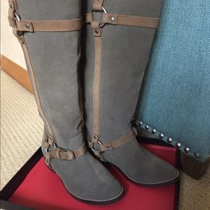 Wild Pair Shoes - WILD PAIR Leather riding boots