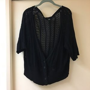 3xl Torrid black knitted cardigan!
