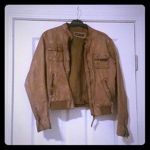 Genuine Leather Bomber Jacket