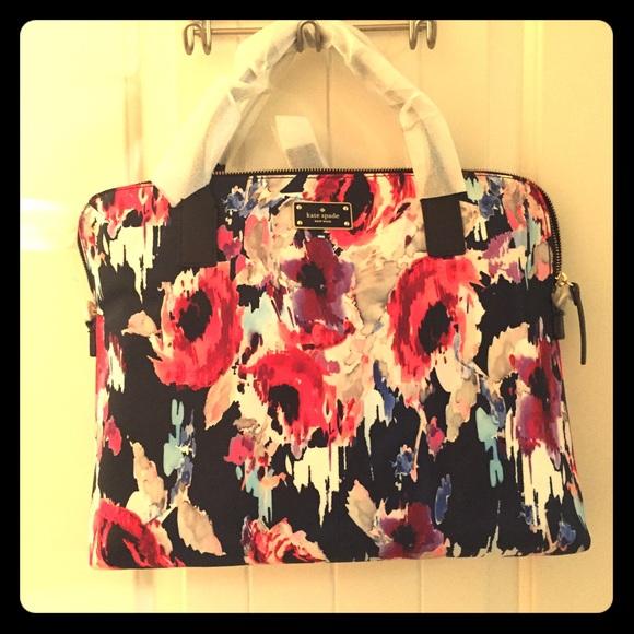 kate spade Accessories   Hazy Floral Daveney Laptop Bag   Poshmark 54622974b3
