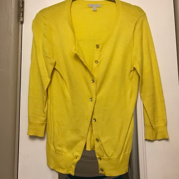 67% off New York & Company Sweaters - Bright yellow cardigan with ...