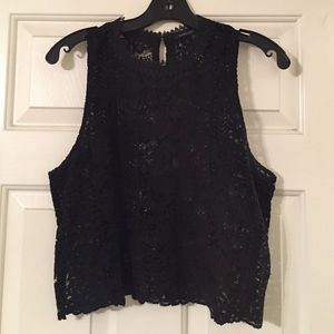 Nasty Gal Tops - Endless Rose x Nasty Gal Black Lace Crop Top.