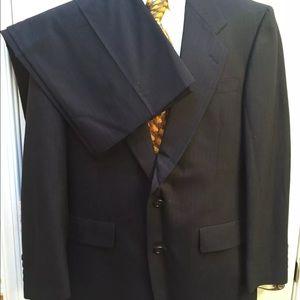 Hart Schaffner Marx Other - Hart Schaffner Marx Navy Blue Pinstripe Suit Sz 38