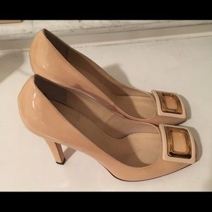 Kate Spade Patent Leather Nude Heels