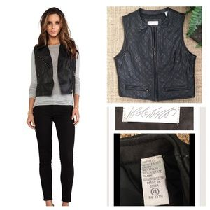 Lord & Taylor Jackets & Blazers - LORD & TAYLOR Dark Brown Leather Vest