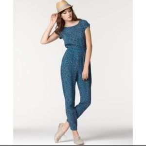 Bar III Teal and Beige Jumpsuit
