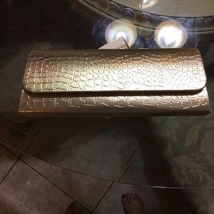 Womens Elegant  Clutch Evening  Party Bag Gold