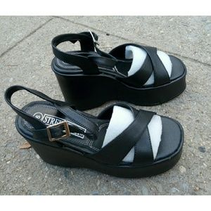 Street Feet Shoes - Street Feet black platform sandals