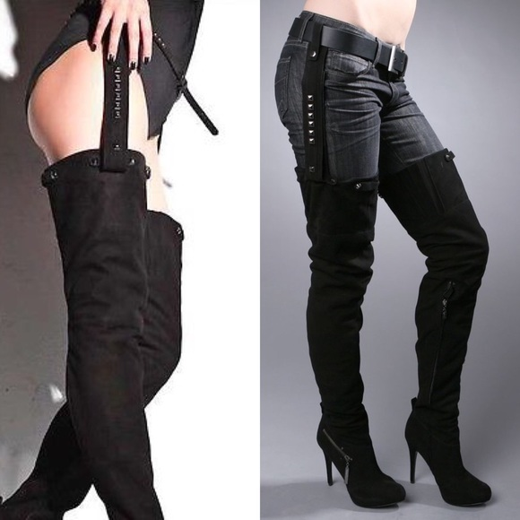 9fcc7ae2b70 68% off Report Shoes - REPORT KANE THIGH HIGH BOOTS W REMOVABLE .