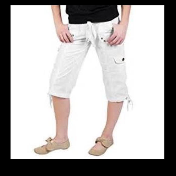 20% off Blue Navy Pants - Juniors Low Rise Cargo Capri Pants from ...