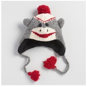 Other - Nwt hand knitted wool sock monkey HAT