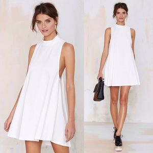 Nasty Gal white mini dress