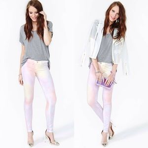 Nasty Gal Jeans - Nasty Gal ice cream skinny jeans