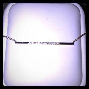 Jewelry - Diamond bar necklace