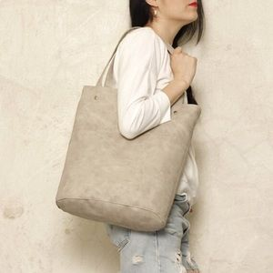 MARBLED GRAY TOTE