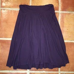 Three Dots Dresses & Skirts - EUC Three Dots Swing Skirt Purple