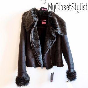 Shearling Beaded $$$ Jacket Fur Coat! S/M NWT vest