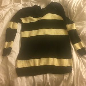 Forever 21 oversized stripped sweater.