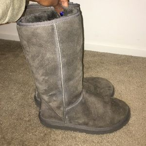 Gray ugg tall classic boots!