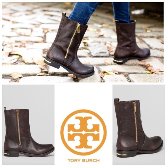 3863b963e0d2 ❤️SALE❤️Tory Burch distressed brown leather boots