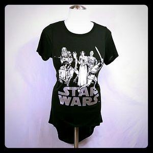 Star Wars Tops - 🆕 NWT Star Wars Hi Low Tee size XS