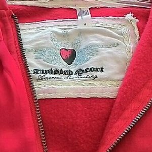 TWISTED HEART Tops - Twisted Heart Red Sweats