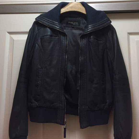 Black Rivet - Leather Bomber Jacket from Kimberly's closet on Poshmark