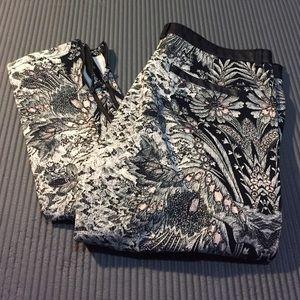 Zara Trafaluc Collection Print Pants US 6