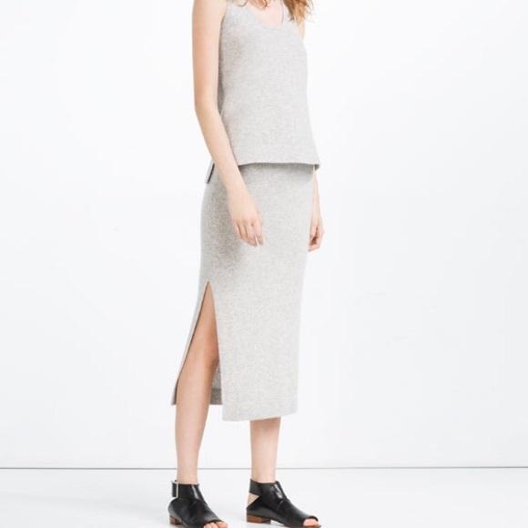 2b3496defa0d6e Zara Skirts | Long Cashmere Skirt | Poshmark