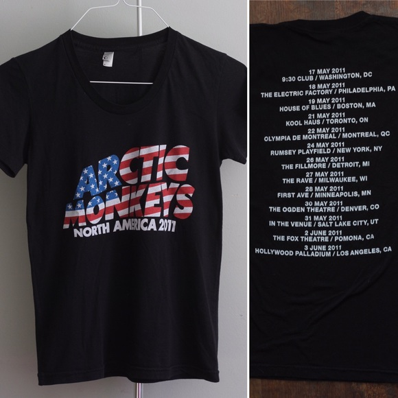 eed8efc0c Arctic Monkeys band tee, North America Tour 2011. M_583be5b12fd0b724ec0fd4b9