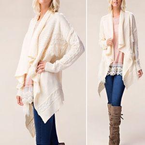 Sweaters - 🌺Ivory Super soft draped cardigan