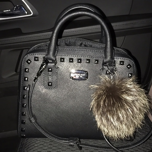 e9c714d96353 Michael kors small saffiano studded satchel