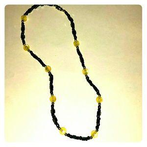 Jewelry - *Unique Necklace - Hematite & Yellow Beads*