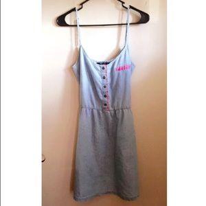 Denim Zara dress!
