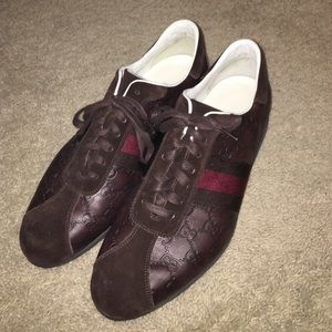 Gucci Other - SALE! Excellent Brown Leather Gucci Sneaker $ Firm